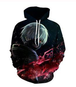 Yüksek kaliteli Tasarımcı Flamin Tokyo Ghoul Hoodies Sweatshirt 3D Unisex Kazak Hoodie Men yazdır mens / bayan Giyim AA0201