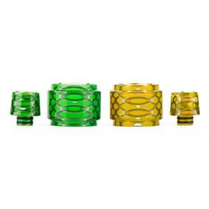 Huahengkj Resin Replacement Tube Cap Kit Big Capacity Honeycomb Cobra Drip Tip Snake Skin For Vaporizer Crown 4 IV Glass Tank Visual Ability