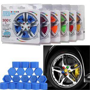 1 Jeu de 20pcs 21mm Hex Wheel Lug Protection Nut Caps Roue Noctilucent Silicone Rim Bolt Couverture fluorescent Car Styling Pièces