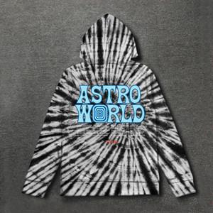 Astroworld Hoodie Tie Färben Travis ScoTour Astronaut Astroworld Hoodies 2019 Männer Frauen Sweater