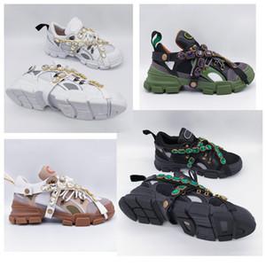 Sneaker Flashtrek di ultima moda con cristalli rimovibili Designer di lusso Scarpe di lusso firmate da uomo Scarpe da donna casual Sneakers Taglia 35-45