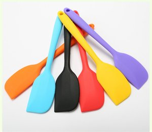 Kitchen Silicone Cream Butter Cake Spatula Mixing Batter Scraper Brush Butter Mixer Cake Brushes Baking Tool Kitchenware DHL free