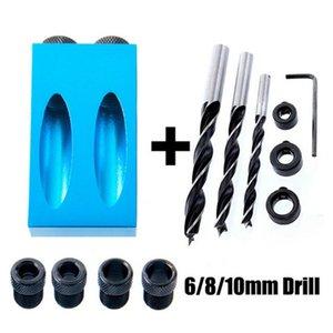 14 Pcs Wood Mini Set Screw Drill Bit Inclined Hole Kit System Joint Tool Pockethole Jig With Dowel 15° Angle