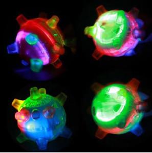 LED Light Lamping Activation Activation Ball Light Music Missing подпрыгивая вибрациоская игрушка светящиеся игрушки