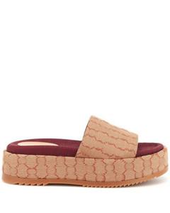 para mujer zapatillas de moda con recubrimiento de lona sandalias de la plataforma con grueso altura de la plataforma de auto-cubierta 60 mm tamaño euro 35-42