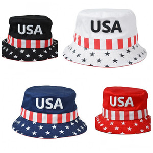 EUA Trump 2020 Pára-Hat Multi Color Sunscreen Bucket Chapéus Fisherman Unisex partido do presente casa e ao ar livre 12sx H1