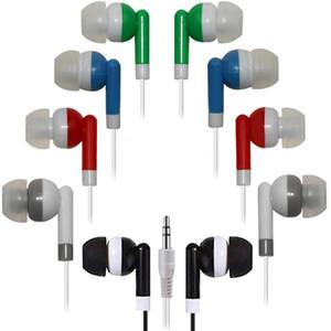 Mayor Auriculares Auriculares al por mayor de auriculares, auriculares de botón 100 Paquete a granel desechables envueltos individualmente auriculares para aula de la escuela