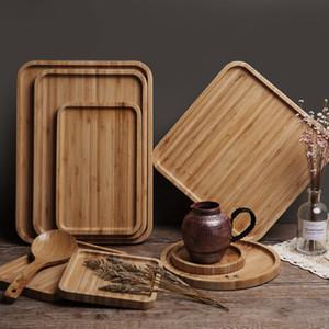جولة ساحة الخشب لوحة طبق السوشي طبق طبق الحلوى البسكويت لوحة صحن الشاي خادم كأس صينية حامل الوسادة 12 مقاسات تخصيص VT0406