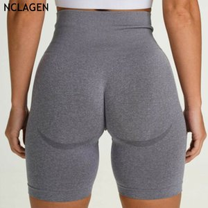 NCLAGEN 2020 Sport Fitness Sexy Yoga Shorts sans couture Tight femmes Gym Workout Running High Waist Quick Dry Booty Shorts Capris
