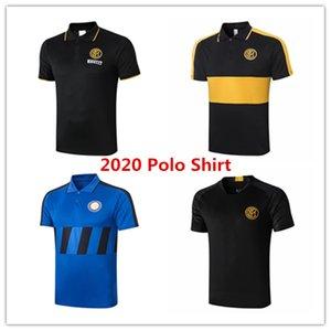 2020 2021 Inter de Milão mens camisa pólo Lautaro manga curta camisa de futebol treino de futebol de formação Lukaku Sensi tshirt Barella kits Tee