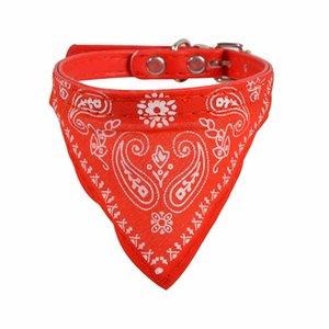 Puppy fazzoletto da collo regolabile Pet Dog Cat collo Bandana collare sciarpa di accessori per cani Piccolo Cane Nero Rosso Blu Rosa Viola