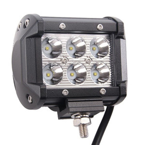 4 Inch 18W Dual rows offroad 4x4 car 12V 24V waterproof flood spot beam 5D LED light bar car work light truck