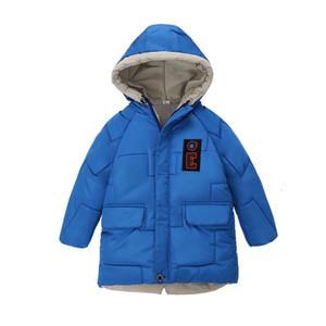 Kış Sıcak Kıvam Polar Çocuk Coat 80-120cm için Çocuklar Kabanlar Pamuk Dolgu Bebek Kız Erkek ceketler Windproof Kıyafetler