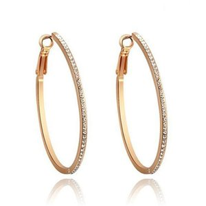 Exaggeration Circle Women Earrings Night Club Personality Charm Lady Studs Outdoor Street Style Female Earring Jewelry