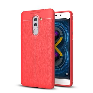 Anti Scratch Litchi Pattern Luxury Leather Case for Honor 6X Slim Soft TPU Silicone Back Cover Case