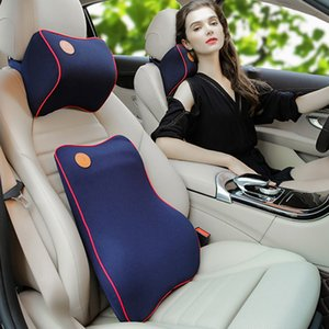 2pcs / set Back Home aliviar Sólidos Cushion Memory Foam lombar carro Zipper Suporte Driving Escritório presente Encostos Ergonomic