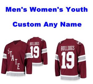 NCAA штата Миссисипи бульдогов Трикотажные женщин людей Молодежь Дети Maroon прошитой Настройка Любой Имя Номер Колледж Хоккей Трикотажные