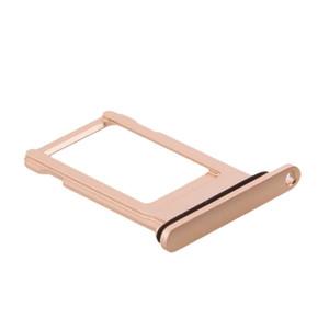 50 unids / lote para iPhone 8 8 PLUS SIM bandeja de la tarjeta titular de la ranura de reemplazo de piezas de repuesto