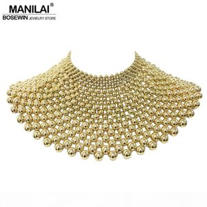 wholesale Brand Indian Jewelry Handmade Beaded Statement Necklaces For Women Collar Beads Choker Maxi Necklace Wedding Dress