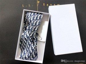 Venda principal diseñador de los accesorios del pelo de las mujeres de la venda vendas elásticos Impreso azul oscuro con la caja de chicas regalos de cumpleaños