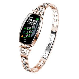 Sevgililer Günü için Bluetooth akıllı saat kadın Sağlık Moda Bilezik Takı izle Nabız Tansiyon Aleti SmartWatch