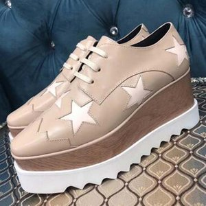 Men Women Casual Shoes Fashion Luxus Sneakers Lace-up Walking Thick bottom Shoes Star pattern Suede Leather Platform Sneaker e1