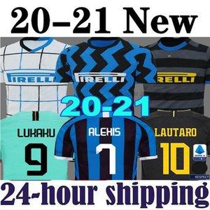 19 20 21 Lukaku ALEXIS Lautaro İnter SKRINIAR Milan futbol forması 2020 2021 GODIN Barella Politano üçüncü siyah Bay Çocuk kiti formalarını
