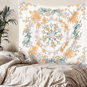 Bohemian Aesthetic Tapestry Wall Hanging Modern Art Nordic Wall Tapestry Geometry Flower Large Tapisserie Room Decoration EB50GT