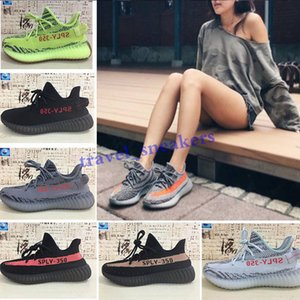 2018 newest 35 V2 Blue Tint Yellow Semi Frozen Cream White Zebra Bred Black Red Beluga 2.0 Kanye West casual shoes TG04