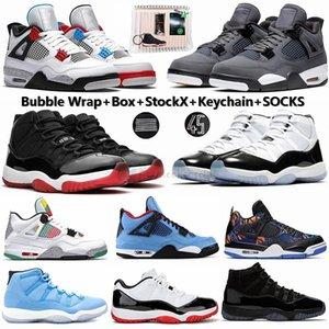Yeni 2020 Cactus Jack Gri 4 4s Soğuk Bred Ne Basketbol Ayakkabıları 11 11'leri Concord 45 Gama Mavi Space Jam Erkek Spor Sneakers ile Kutusu
