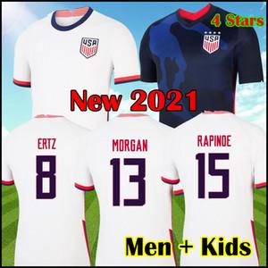 4 stelle USA 2020 2021 copa America Maglia da calcio LLOYD 20 21 Maglia da calcio trasferta USA Lavelle RAPINOE KRIEGER Maglia Stati Uniti
