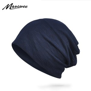 sombreros MAOCWEE estilo transpirable sombrero para el sol delgado hombre de la mujer Gorros primavera y el verano al aire libre de protección solar sombreros color sólido de malla MX191109 casquillo
