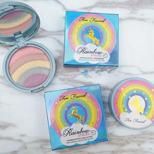 5 colori Shimmer Highlighter Palette Contouring Viso Cosmetici Polvere pressata Evidenziare la tavolozza Illuminare la pelle Strumenti di trucco di bellezza LJJR1036
