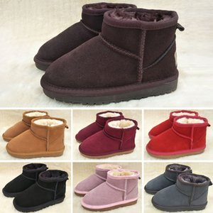 UGG Boots I nuovi stivali inverno classico per bambini impermeabili caldo inverno stivali ragazze bambine neve bambini australiani scarpe stivali da neve