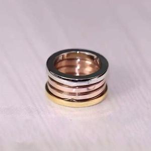 Nova marca 3 mix anéis primavera cor de aço inoxidável mulheres anel de amor homens Casais anel de casamento fina anéis atacado