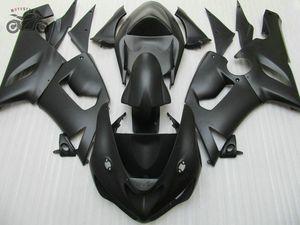 Matte Black-Karosserie-Verkleidung Kit für Kawasaki ZX6R fairings 2005 2006 Ninja 636 ZX6R 05 06 ABS Kunststoff-Karosserieteile