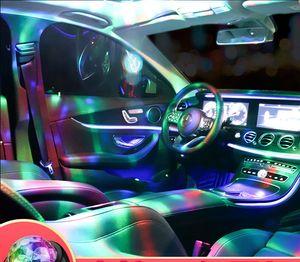 Car LED luzes decorativas para casa de carro dormitório luzes de discoteca música acústica DJ dentro da atmosfera das luzes piscam