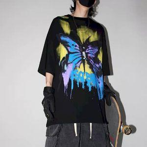 NiceMix harajuku tshirt punk graffiti couple clothes t shirt print oversized t-shirt men clothing Korean plus size summer tees
