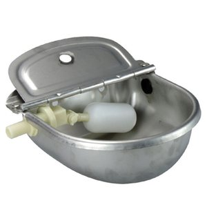 4L 304 Stainless Steel Water Trough Bowl Horses Goats Sheep Pig Float Bowl Automatic Waterer Drinking Bowl Cattle Tool Accesso