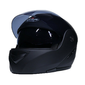 Casco modulare per moto da strada a doppia visiera FULL Open Face Motorcross Road Bike Scooter