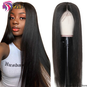 Zui Lace Front Human Hair Wigs Pre Plucked Bleached Knots Wig Straight Lace Front Wig 360 Lace Frontal Wig