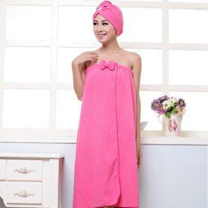 BAKINGCHEF Women's Microfiber Bath Towel Set With Hair Band Bathrobe Home Textile Bathroom Items Gear Stuff Accessories Supplies T200529
