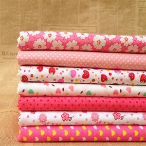 ibotti 50x50cm New arrive Pink Floral Dot Love Cotton Fabric Sewing Tilda Doll Cloth DIY Quilting Patchwork Tissue