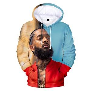 3D rapper nipsey hussle mens designer de moletom com capuz manga longa camisola mulheres / homens de luxo hoodies camisolas casuais streetwear roupas