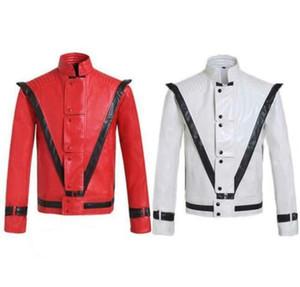 Michael Jackson Thriller Billie Jean PU Giacche ragazzo costume da ballo moderno costume cosplay