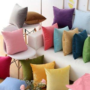 16pcs Modern Fashion Color Candy Velvet Cushion Cover Blue Gray Yellow Pink Pillow Cover Pillowcase Home Decorative Sofa Throw Pillows