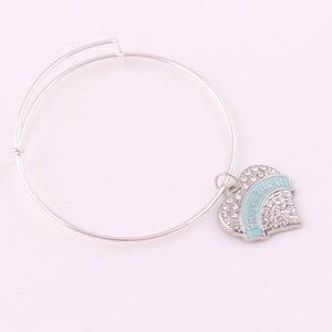 TX016 Venta al por mayor de cristal en forma de corazón Colgante PROVERBIOS 31 REALTOR HIJA Cartas encanto pulsera de cadena de aleación de moda