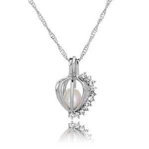 50 estilo Love Wish Pearl Cages Locket collar ahueca hacia fuera Oyster pearl Pendant Necklace Freshwater Pearl Shark Sirena Sea Horse joyería DIY
