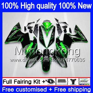 الجسم + 7Gifts لKAWASAKI 650R ER 6 F ER6F 2009 2010 2011 252MY.0 650 R ER6 F 650 ER 6F 650R ER6F 09 10 11 كاملة هدية طقم أخضر أسود