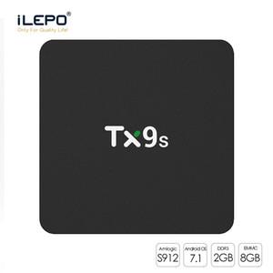 التلفزيون الذكية صندوق TX9s AMLogic نوع S912 الثماني الأساسية الروبوت التلفزيون مربع 1 قطعة 2 + 02/08 + 16GB مع 2.4GHZ لواي فاي الروبوت 7.1